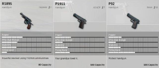 Die Pistolen.
