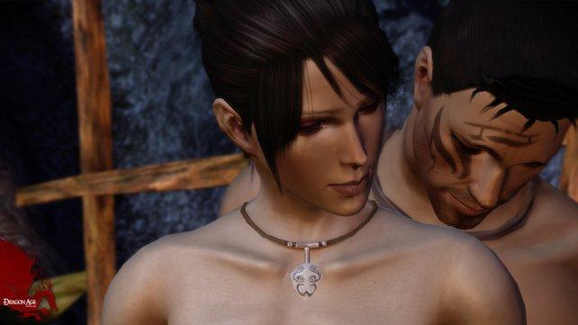 Dragon Age - Origin: Setzt ihr die Interaktionsmöglichkeiten richtig ein, kann das mitunter, ähm ... angenehme Auswirkungen auf die Erzählung haben.