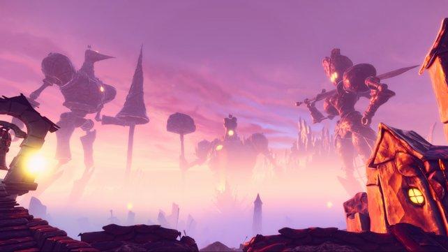 Die imposanten Maschinen in Dreiheit fechten einen ewigen Krieg aus. Kann Even dem Reich den Frieden bringen?