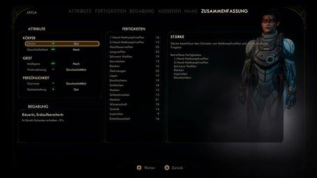 Eine umfangreiche Charaktererstellung fördert das individuelle Spielerlebnis.