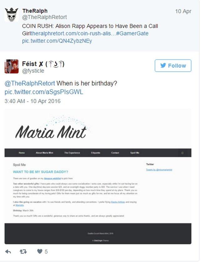 """Twitter-User """"TheRalph"""" bringt eine mögliche Rotlicht-Vergangenheit von Rapp ins Spiel."""