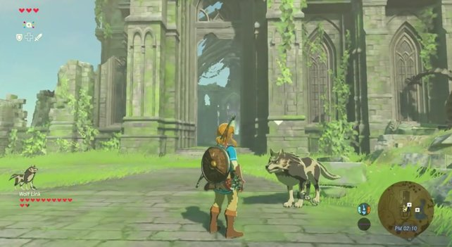 Als Mitstreiter macht Wolf-Link einen guten Job und hilft euch Gegner zu besiegen und Items zu finden.