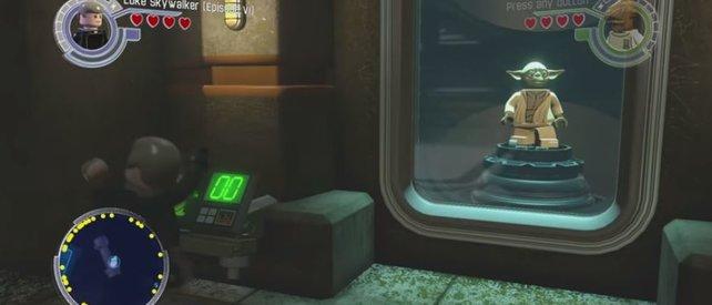 Um das Carbonit zu schmelzen, müsst ihr nach Q'Dar. Aus diesem Block konnte Yoda befreit werden.