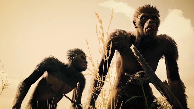 Nutzt einen Stock in Ancestors: The Humankind Odyssey, um ihn mit Granit oder Basalt zu einem Speer zu verarbeiten.