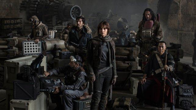 Schauen so düster wie der Film: Die Hauptfiguren aus Rogue One.