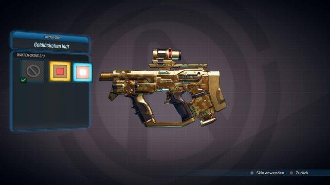 Ein bisschen Gold muss sein! Lust auf einen neuen Waffen-Skin? So rüstet ihr sie aus!
