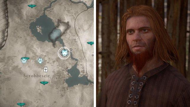 Die Karte euch zeigt den Standort von Ove.