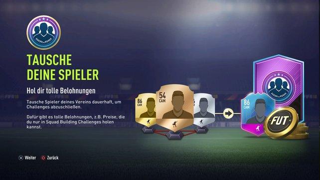 Squad Building Challenges in FIFA 18 können lukrativ sein, wenn ihr unsere Tipps beachtet.