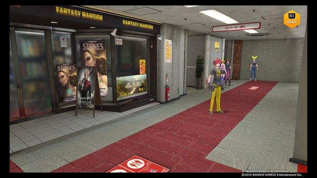Victory Uchida ist dieses Mal im dritten Stock des Kaufhauses.