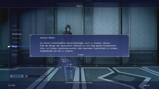 Bei Final Fantasy 15 bekommt die Magie mit Katalysatoren die notwendige Tiefe.