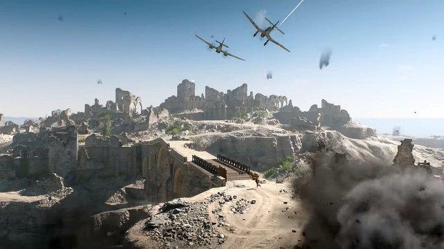 Die Schlachtfelder von Battlefield 5 sehen fantastisch aus, aber verwischen alle Spuren zwischenmenschlicher Gewalt – von zerstörten Häusern und Kratern einmal abgesehen.