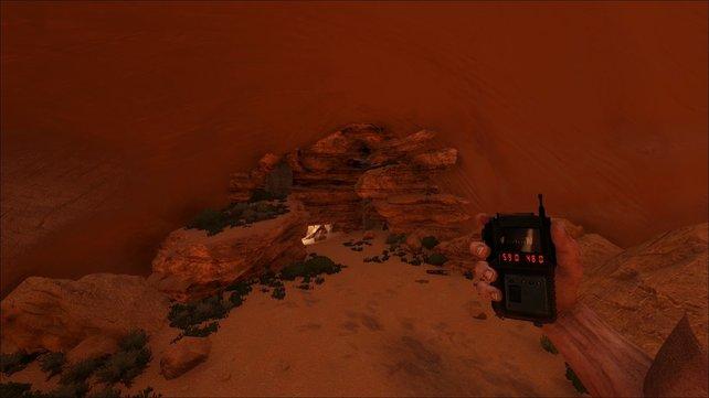 """In einer Sandsteinschlucht findet ihr die Höhle """"Canyon"""" bei ARK."""