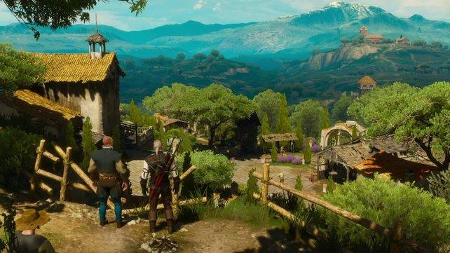 Schöne, satte Farben: Die Umgebung im DLC Blood and Wine für The Witcher 3 lädt zum Ausruhen ein.