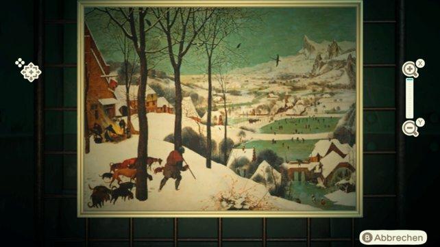 Benutzt die Zoom-Funktion, um vor dem Kauf einen genauen Blick auf Reiners Gemälde zu werfen.