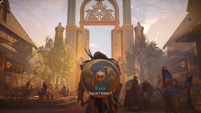Eivor glaubt, in Valhalla seinen Vater Varin gesehen zu haben, was aber angesichts der Art seines Todes nicht sein dürfte.