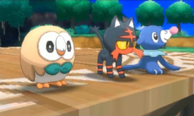 Pokémon Sonne und Mond: Eines dieser drei Starter könnt ihr schon als Shiny-Pokémon fangen.