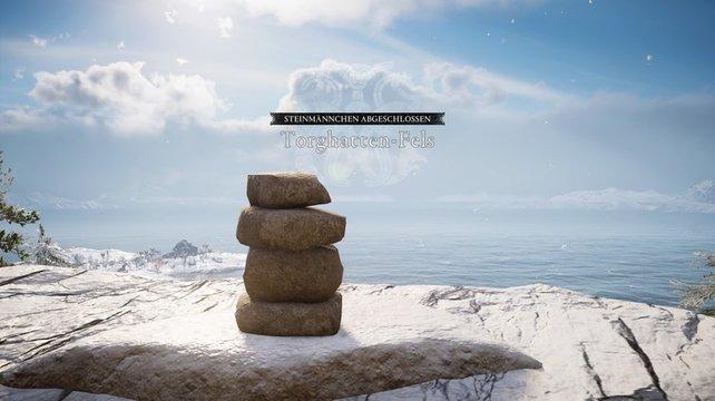 So sieht die Lösung des Steinmännchen-Rätsels in Hördafylki aus.