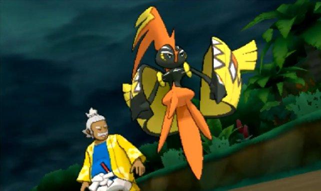 Kapu-Riki hat einige Auftritte in Pokémon Sonne und Mond.