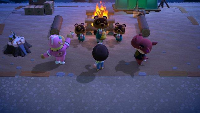 Die neuen Bewohner weihen ihre Insel bei einem genüsslichen Saft ein.