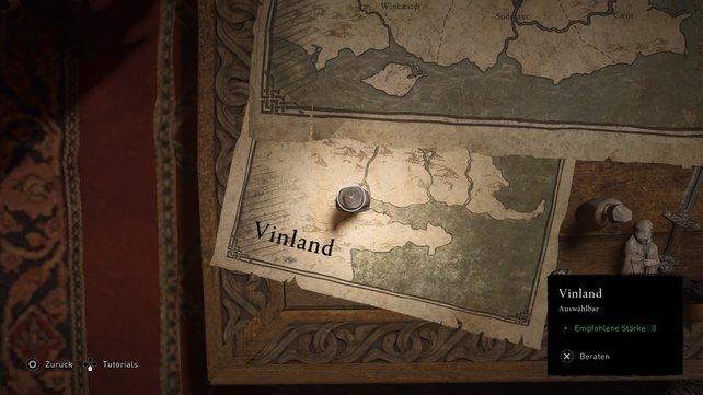 Um die VinLand-Saga zu starten, müsst ihr auf der Bündniskarte nach unten links scrollen und Vinland auswählen.