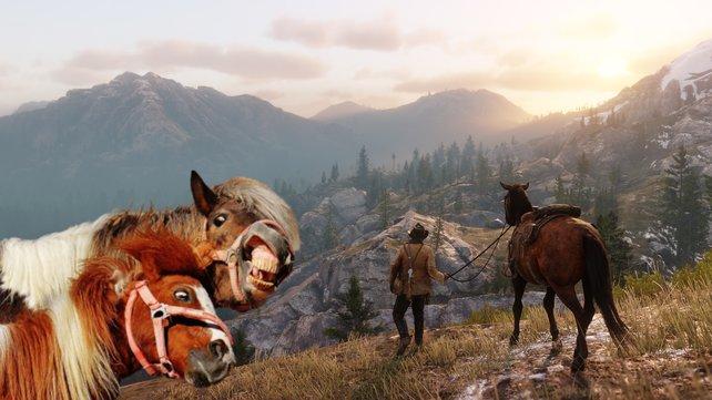 """Das Glück der """"Read Dead online""""-Spieler liegt auf dem Rücken der Pferde."""