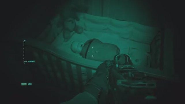 In einer speziellen Mission könnt ihr auf ein Baby schießen. Das Spiel hat dafür auch eine Antwort parat.
