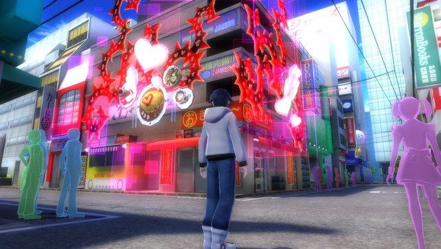 Überall in Akiba findet ihr Täuschungen, die als Verliese herhalten.