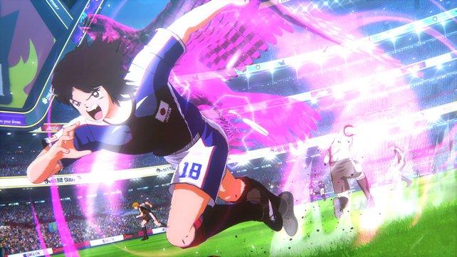 Die Spezialitäten der Fußball-Helden sehen allesamt äußerst cool und sehr animetypisch aus.