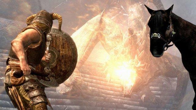 Ein neuer Skyrim-Spieler wird zum Drachenreiter. Allerdings nicht mit Absicht.