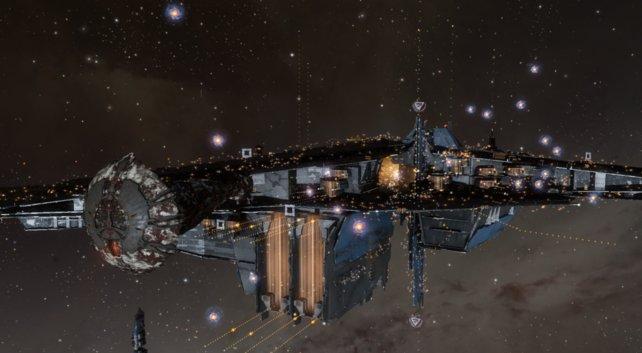 Der Friedhof von Eve Online. Hier können Spieler auch wirklich Versotrbenen gedenken