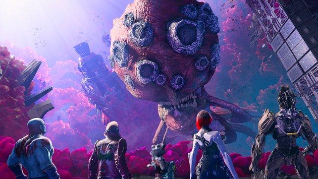 Große Gefahren warten auf die Guardians. (Bild Square Enix)