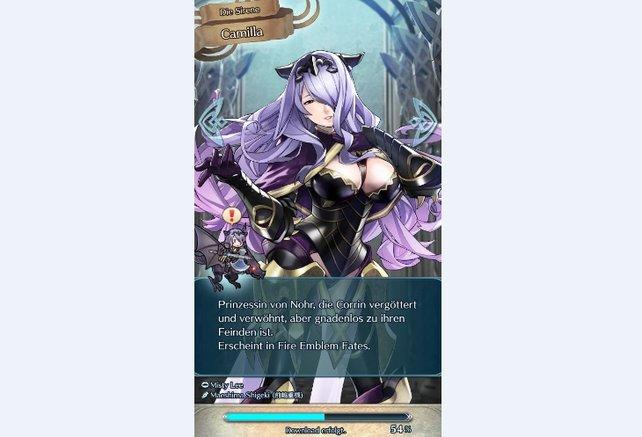 Camilla, die Sirene, schwingt eine mächtige Axt in der grünen Kategorie.