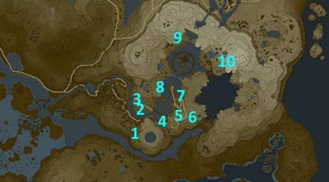 Die Karte zeigt euch die Fundorte der zehn Gedenksteine.