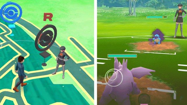 Team Rocket macht jetzt auch eure Nachbarschaft in Pokémon Go unsicher. (Bildquelle: Niantic)