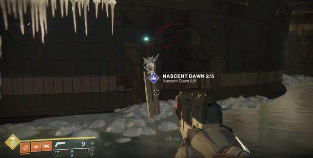 """Dieses große Schwert im BrayTech-Gebäude ist wohl jedem Hüter aufgefallen. Jetzt hat es mit """"Nahende Dämmerung"""" auch endlich eine Funktion."""