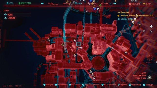 Der 15. Cyberpsycho versteckt sich in Stadtzentrum.