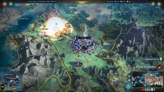 Auf der Weltkarte sieht Planetfall ein wenig aus wie Civilization und spielt sich teilweise auch so.