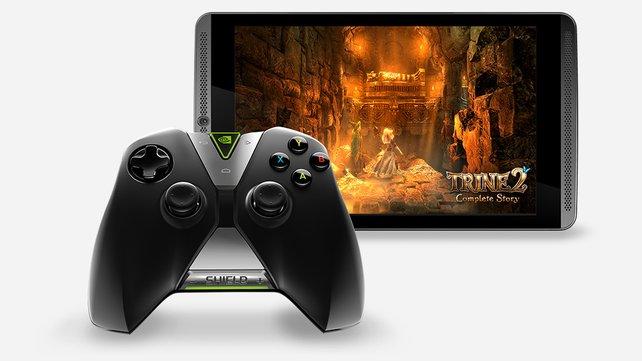 Ein leistungsstarkes Tablet samt eigenem Controller sorgt für Spielspaß.