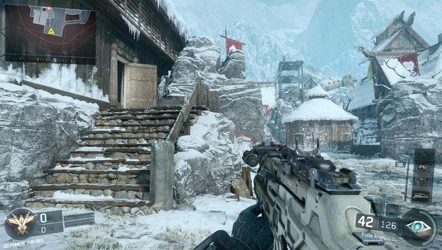 Im frostigen Skandinavien knallt ihr Gegner in diesem Wikingerdorf weg.