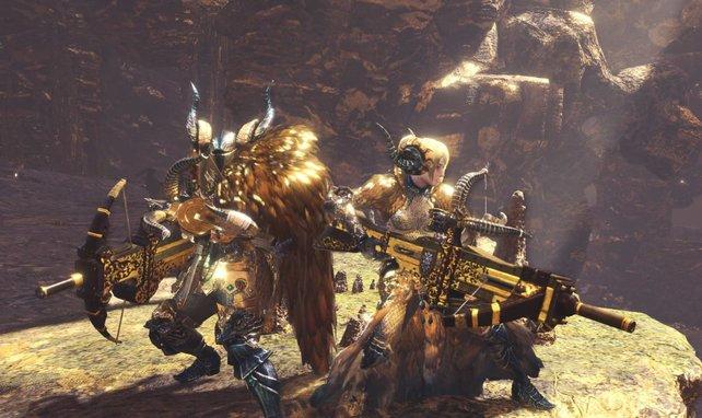 So viel Gold! Die Rüstung des Kulve Taroth kann sich sehen lassen.