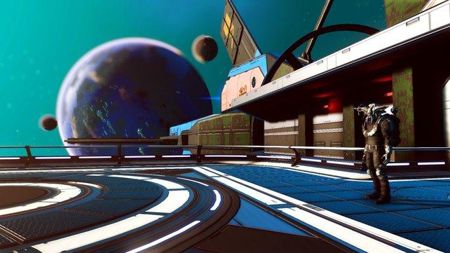 """Die neuen Fregatten und der """"Third Person""""-Modus erlauben es Spielern, die Welt von No Man's Sky mit neuen Augen zu sehen."""