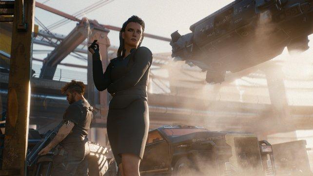 Die unterkühlt wirkende Business-Lady ist vermutlich ähnlich verbrecherisch wie ein Straßenräuber. Nur halt auf ihre Art.