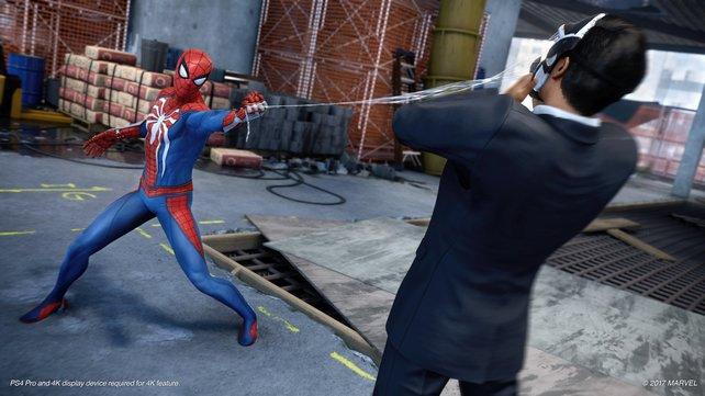 Splat! Im Kampf setzt Spidey ebenfalls auf seine Netze.