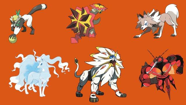 Das sind die neuen Pokémon der 7. Generation, die es nur in Sonne gibt.