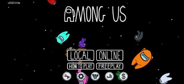 Im Startmenü könnt ihr euch entscheiden, ob ihr Online mit Fremden und Freunden oder Lokal nur mit Freunden spielen wollt.