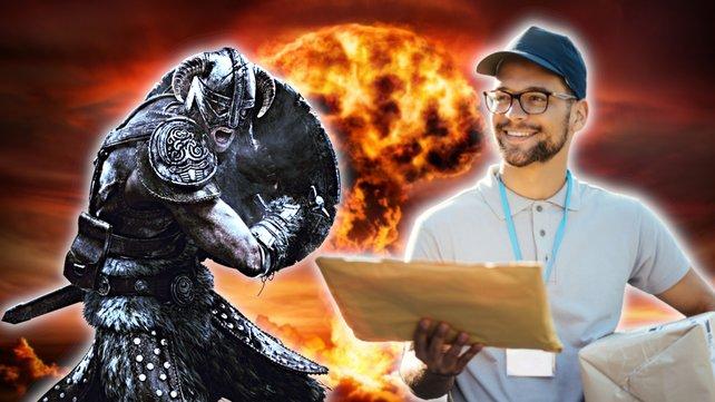 Der Postbote in Skyrim liebt seinen Job so sehr, dass er die Apokalypse riskiert. Bildquelle: Getty Images/ RomoloTavani/ Drazen Zigic