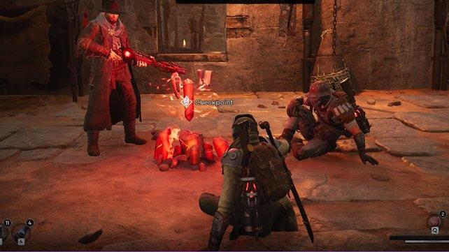 """Checkpoints, an denen Spieler rasten können und damit die Level samt ihrer Gegner zurücksetzen. Auch dies ist ein markantes """"Dark Souls""""-Feature."""