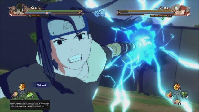 Im Kampf mit Gaara während der Chunin-Prüfung, trägt Sasuke zum ersten Mal schwarze Kleidung.