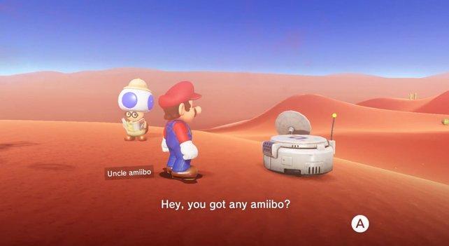 Onkel amiibo ist ein sehr nützlicher Helfer. Falls ihr Amiibo-Figuren besitzt, solltet ihr ihm regelmäßig einen Besuch abstatten.