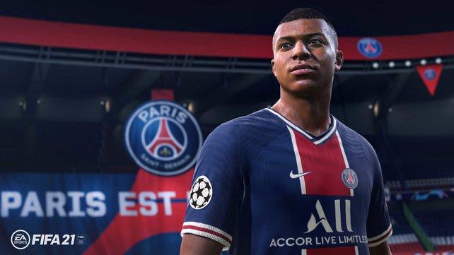 Coverstar und eines der besten Talente in FIFA 21: Kylian Mbappé.